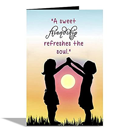A sweet friendship greeting card amazon office products a sweet friendship greeting card m4hsunfo