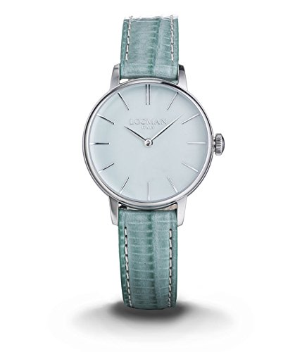 LOCMAN Watch 1960 LADY Only Time Quartz 5ATM Leather Strap 32mm Green Water Dial