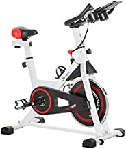 Soozier Adjustable Upright Stationary Exercise Bike Aerobic Training Indoor Cycling Cardio Workout Fitness Rac