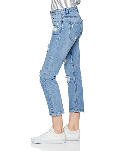 Extreme Blue Blue Boyfriend Jeans New Rip Look mid Donna 455Cq