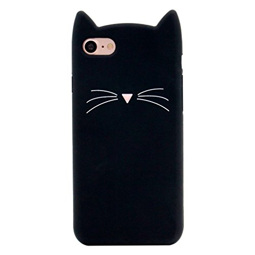 Cute 3D Black Party Cat Kitty Whiskers Protective Soft Case Skin for Samsung Galaxy J3 Emerge 2017
