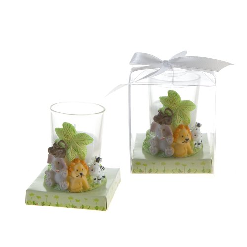 (Mega Favors Keepsake Figurine 12 pcs Safari Jungle Animals Candle Set | Awesome Decorations or Party Favors | for Pregnancy Announcements, Gender Reveals, Birthday Parties and Special Celebrations)