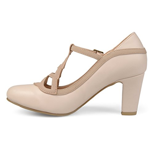 Two Nude Sole Lattice Toe Comfort Co Leather Jane Womens Nasir Pumps Faux Brinley Round Vintage Mary Tone qpxBX8a8w