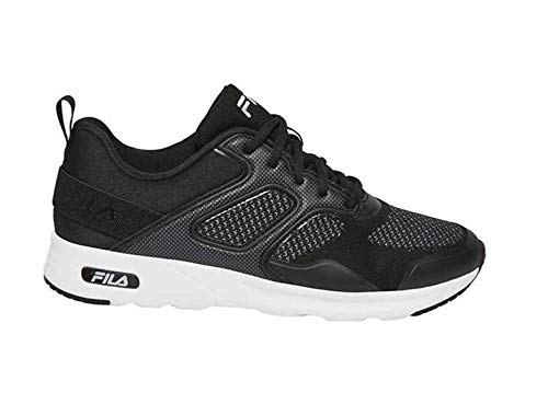 Fila Women's Memory Foam Frame V6 Athletic Running Shoes (8.5, Black/White)