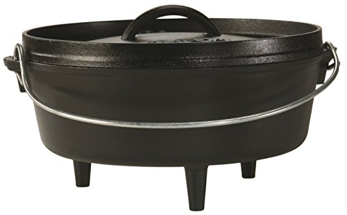 Lodge L10CO3 Cast Iron Camp Dutch Oven, 4-Quart