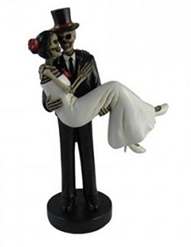 DWK Forever Yours Skeleton Wedding Couple Bride and Groom Day of the Dead Figurine