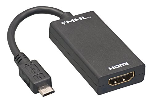 Cablelera ZAJ5DMMF Micro USB Male to HDMI Female MHL Adapter