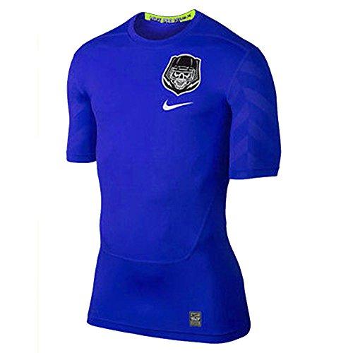 Nike Pro Combat Hypercool Compression Shirt 698266 404 Blue (Large) (Nike Pro Combat Shirts Hypercool)
