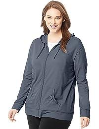 Women's Full Zip Jersey Hoodie