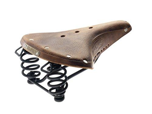 Brooks Saddles B67 Bicycle Saddle (Men's, Chrome Springs, Tan with Black Laces)