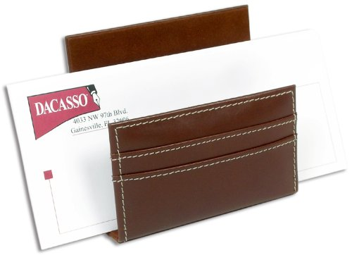 (Dacasso Rustic Brown Leather Letter Holder)