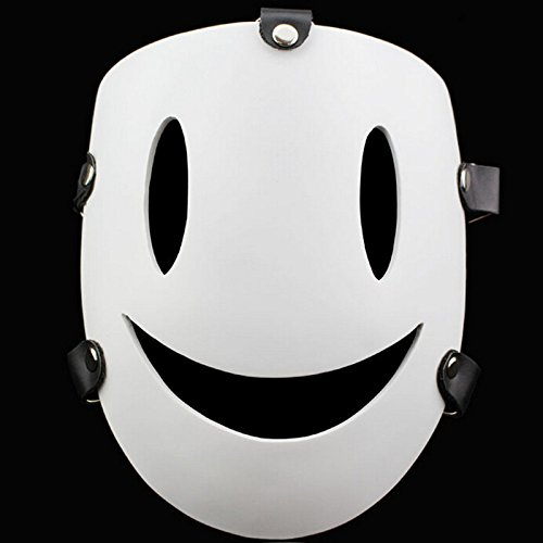 2016* Newest *2015 New Smile Resin Mask Adult Costume Accessory Fancy Party Full Mask Party Cosplay White Face Mask Smile Creepy Resin Mask