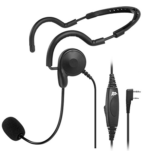 2 PIN PTT MIC Headphone Headset Earpiece for Baofeng UV-5R Kenwood Wouxun Radio