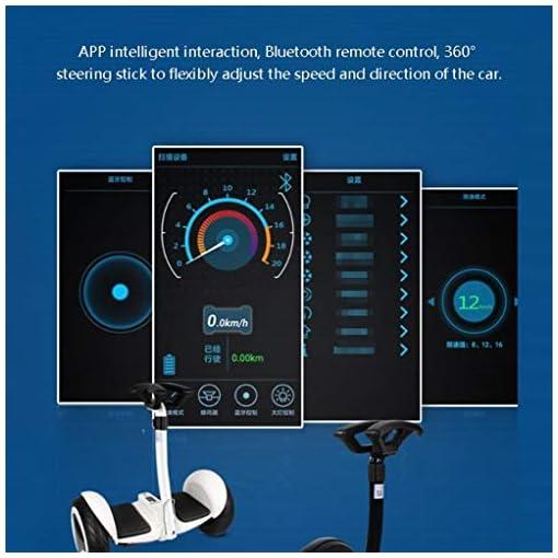 HUO FEI NIAO 10 « » Auto équilibrage Hoverboard Tout-Terrain avec Roue Bluetooth électrique Auto équilibrage Scooter, Roue Halo, APP contrôle Intelligent for Les Enfants et Adultes (Blanc)