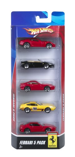 Hot Wheels Ferrari 5-Pack - Styles May Vary (Unified Wheel)