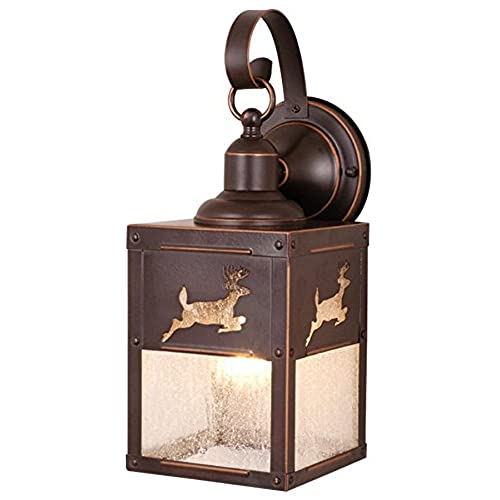 rustic outdoor light fixtures cottage style vaxcel ow33553bbz bryce 5inch outdoor wall light burnished bronze rustic light amazoncom