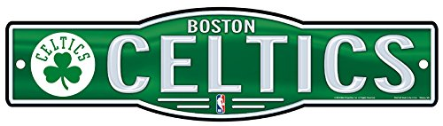 WinCraft NBA Boston Celtics 4''x17'' inch Plastic Street Sign