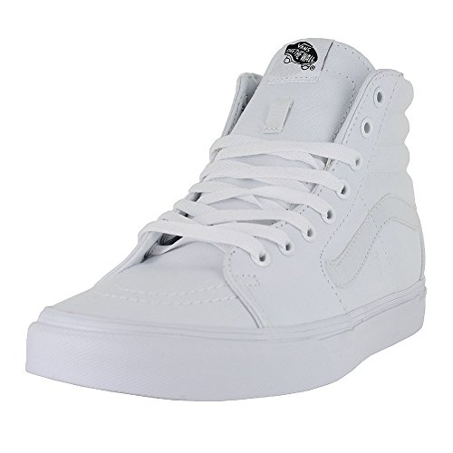 Vans Sk8-Hi Sneakers (True White) Men's Canvas Skateboarding High-Top (Vans Mens Skateboarding Shoes)