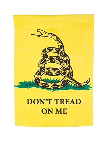 Evergreen Don't Tread on Me Suede Garden Flag, 12.5 x 18 inc