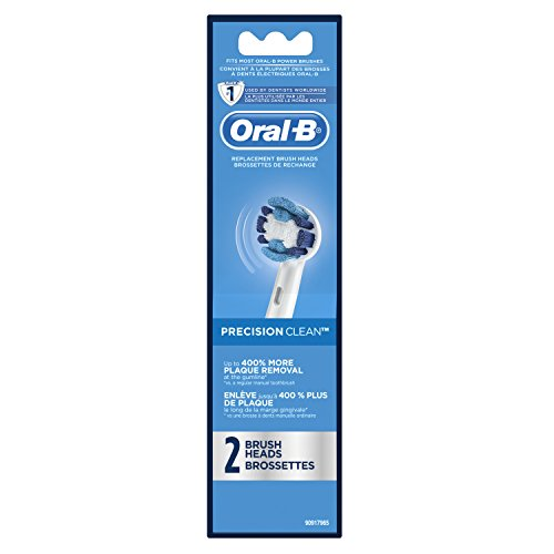 Oral-B Precision Clean Electric Toothbrush Replacement Brush Heads Refill, 2 Count