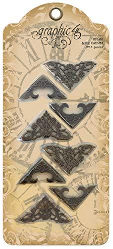 Ornate Corners - Graphic 45 Staples Ornate Metal Corners-