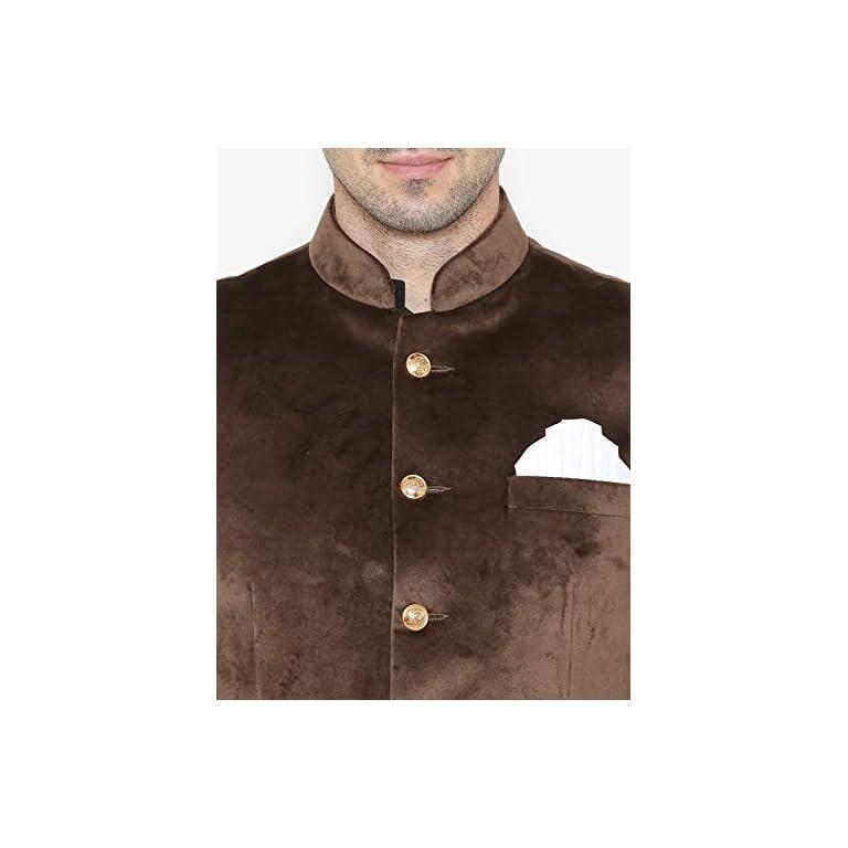 41lSfoIQ7WL. SS768  - WINTAGE Men's Velvet Grandad Nehru Blazer Coat Jacket