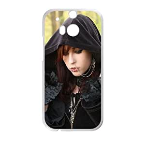 Girl Hood Piercing Subculture Gothic 31313 funda HTC One M8 caja funda del teléfono celular del teléfono celular blanco cubierta de la caja funda EVAXLKNBC23039