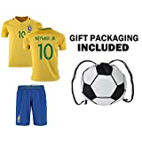 Youth NEYMAR JR # 10 BRAZIL World Cup Home jersey with shorts -Many sizes/ages