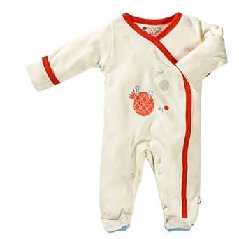 Babysoy Unisex Baby Footie - Deer - 0-3 Months