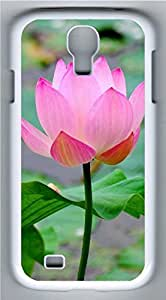 Samsung Galaxy S4 I9500 White Hard Case - Lotus 1 Galaxy S4 Cases