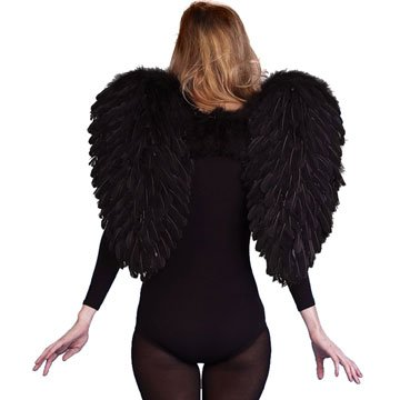 [Black FEATHER Dark ANGEL WINGS] (Dark Fairy Wings Costume)