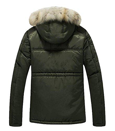 Icegrey Sintética Oscuro Piel Abrigos Para Hombre Invierno Verde Yq7q1xwBI