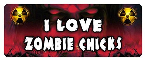 I LOVE ZOMBIE CHICKS Zombie Car Laptop Wall Sticker