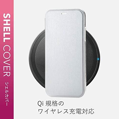 エレコム iPhone XR ケース 手帳型 ハード ポリカーボネート素材 極薄フラップ 【傷がつきにくく、強くて丈夫】 シルバー PM-A18CPVFSV
