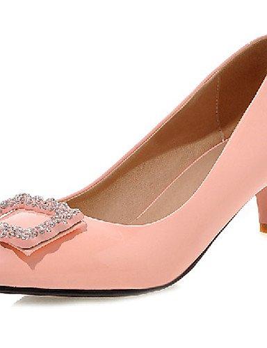 ZQ Zapatos de mujer-Tac¨®n Stiletto-Tacones-Tacones-Exterior / Oficina y Trabajo / Casual-Sint¨¦tico-Negro / Rosa / Rojo / Blanco / Plata / , golden-us10.5 / eu42 / uk8.5 / cn43 , golden-us10.5 / eu42 black-us3.5 / eu33 / uk1.5 / cn32