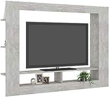 UnfadeMemory Mueble para TV Moderno,Soporte del Televisor,Mueble de Hogar, con Estantes Laterales,Madera Aglomerada,152x22x113cm (Hormigón Gris): Amazon.es: Hogar