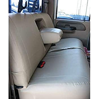Sensational Durafit Seat Covers Made To Fit 1999 2007 F250 F550 Rear Bench Seat With Integrated Armrests And Drink Tray Seat Covers In Taupe Velour Inzonedesignstudio Interior Chair Design Inzonedesignstudiocom