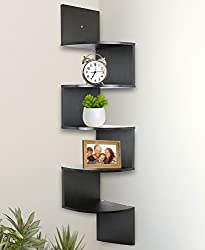 These Corner shelves are functional and attractive alike. It matches almost every decor and is great for your kitchen, dining room, living room or office. Use it as a practical shelf or to display collectibles, photos etc. or decorative items. It's e...