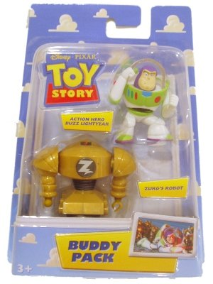Disney/Pixar Toy Story Buddy Pack Action Hero Buzz Lightyear and Zurg's  Robot