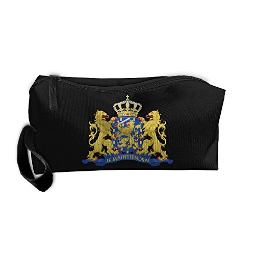 Coat Of Arms Netherlands Handaes Portable Toiletry Cosmetic Bag Waterproof Makeup Make Up Wash Organizer Zipper Storage Pouch Travel Kit Handbag Netherland Coat Of Arms