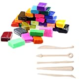 Susenstone 5 Tools+32 Colors Polymer Clay Fimo Block Modelling Moulding DIY Toys
