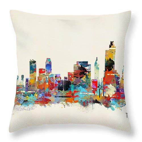 Tulsa Oklahoma Decorative Throw Pillow Cover for Couch, Sofa, Bedroom, Living Room, Square 18x18 Inches Two Sides Printed Cotton]()