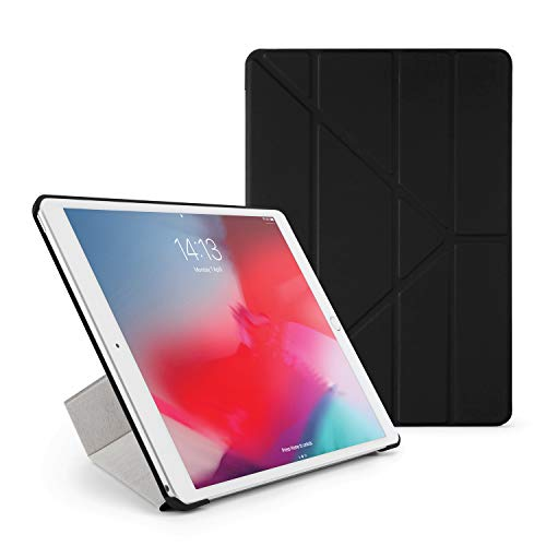 PIPETTO Origami iPad Case Air 10.5 inch (2019) & Pro 10.5 inch (2017) with 5 in 1 Stand & auto Sleep/Wake Function Black