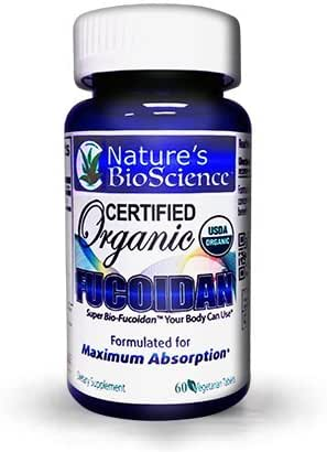 Nature's BioScience ® Certified USDA Organic Fucoidan; Formulated for Maximum Benefits; with Bio-Enhancers to Maximize Fucoidan's Absorption into The Blood Stream.