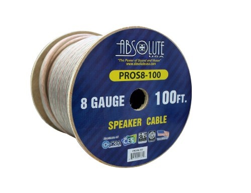 Absolute Usa Amplifier (Absolute USA PROS8100 8 Gauge Speaker Wire)