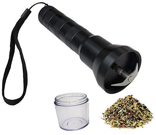Electric Herb Grinder for Seasoning Spice By 18650 or 3 AAA Battery Powered,One Hand Operation Automatic Electronic Grinders By LGtrade,Black (Best And Cheapest Dry Herb Vaporizer)