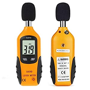 Cadrim Digital Sound Level Meter - Decibel Meter Noise Measure Device with Large LCD Display High Accuracy Range 30-130dBA (Battery Included)