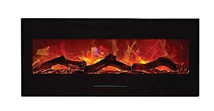Amazoncom Amantii 50 Electric Fireplace With Black Glass Surround