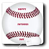 3Drose LLC 8 X 8 X 0.25 Inches Mouse Pad, Huge Baseball with Happy Fathers Day on It (Mp_109484_1)