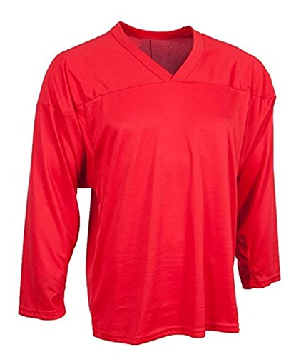 CCM Senior Hockey Practice Jersey - 10200 - Red - Large - Hockey Senior Team Practice Jersey